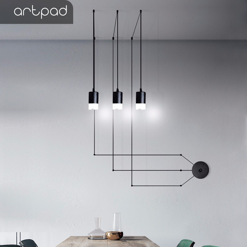 Modern Simple Design Diy Long Cable Pendant Suspension Lights With Plug In Dining Room Living Room Restaurant Wall Hanging Lamp