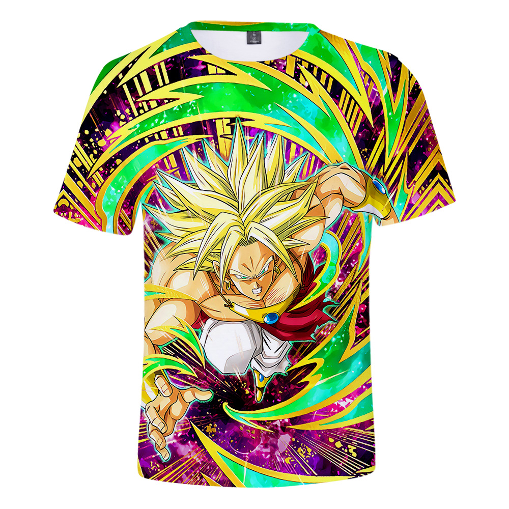 New Arrival Dragon Ball Super Broly T Shirt Boys/Girls Breathable High Quality Short Sleeve T Shirt Dragon Ball Super Broly Tops