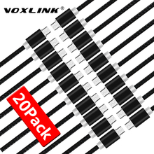 VOXLINK 20 Pack USB Cable 5V 2.4A Micro USB Charging Cable Data Mobile Phone Cable For Samsung S7 S6 Huaiwei Xiaomi Meizu LG HTC цена в Москве и Питере