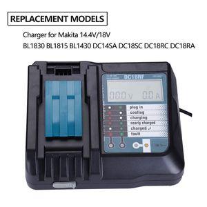 Image 3 - 14.4V 18V Li Ion Battery Charger Voltage Current Lcd Digital Display For Makita Dc18Rf Bl1830 Bl1815 Bl1430 Dc14Sa Dc18Sc Dc18