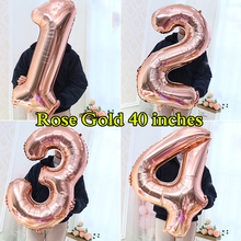 Wholesale 40 Inch Number Balloon 30th 50 60 Party Birthday Supplies Promotion Adult Wedding School Anniversary Helium Ballon