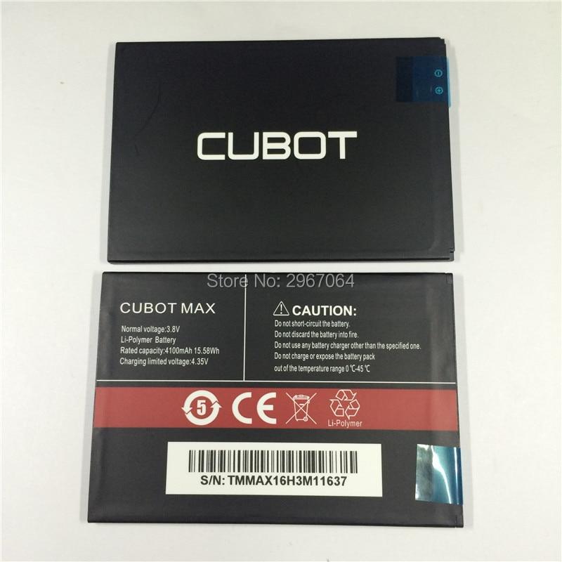 Mobile téléphone batterie CUBOT MAX batterie 4100 mAh batterie D'origine Haute capacit Mobile Accessoires CUBOT téléphone batterie