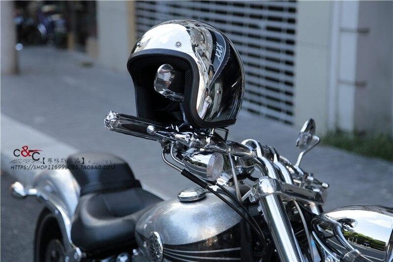 THH open face helmet Halley half helmet moto 3/4 casco Vintage motorcycle helmet Silver Full of personality Helmet цена в Москве и Питере