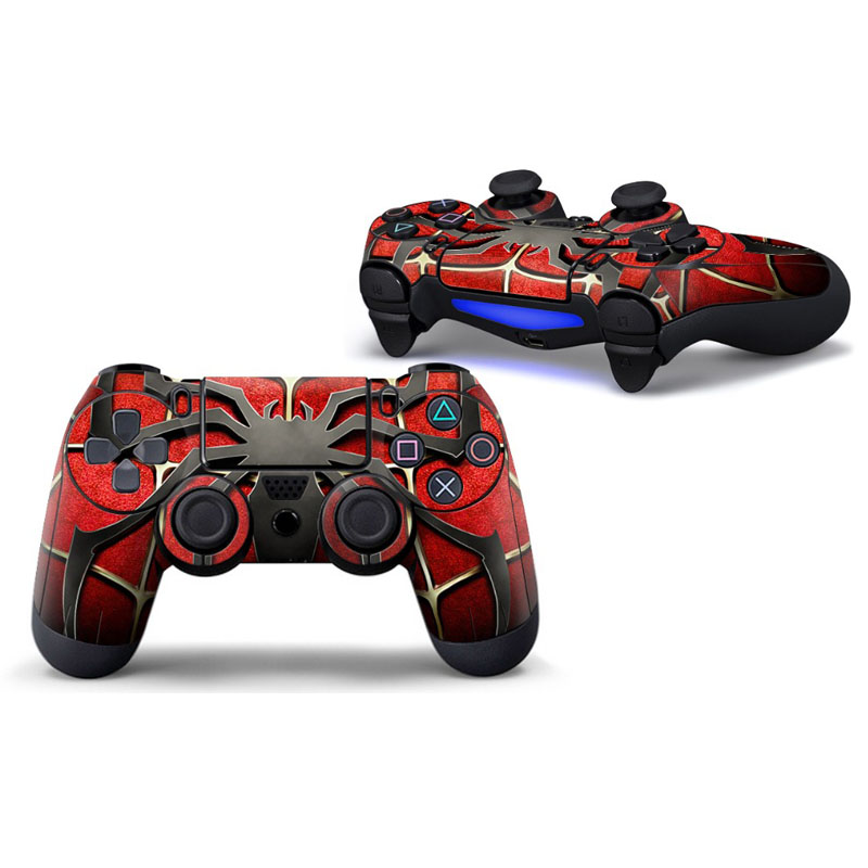 Sipderman Protective Cover Sticker For PS4 Controller Skin For Playstation 4 Decal Accessories(China)