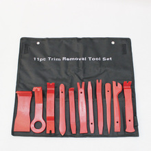pack of 11 pieces red plastic car trim clips body push pin rivet fasteners moulding clip screwdriver