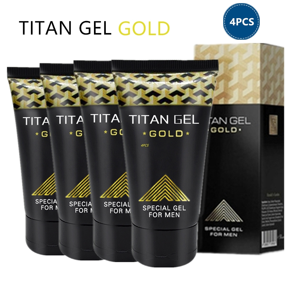 4pcs Original Russian Titan Gel Gold 50ml Penis Enlargement Massage Cream For Increase Dick Size Delayed Ejaculation Enhancer(China)