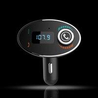 Schwarz Bluetooth Audio Receiver MP3 Player FM Transmitter mit Usb-ladeanschluss für Iphone und Android BT-C1 New Car Kit