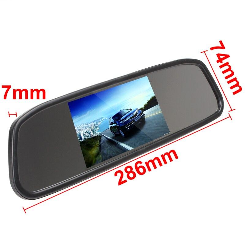 Universaalne auto 4.3 Digitaalne TFT LCD peegel Autode parkimise - Autode Elektroonika - Foto 3