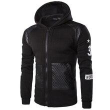 TANGNEST Fashion Patchwork Casual Men Hoodie Hooded Hot Sale Comfortable Sweatshirt Men Black Grey Colors Hoodies Men MWW1115