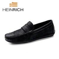 Генрих 2018 весной и летом Для мужчин повседневная обувь слипоны Модные туфли для вождения Для мужчин s Лоферы мокасины Zapatos De Hombre
