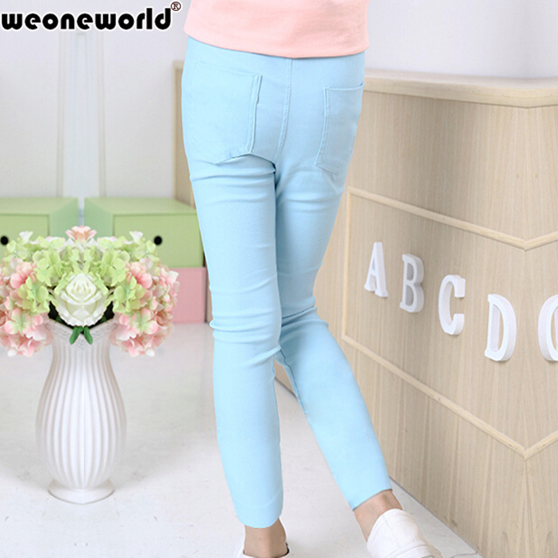 WEONEWORLD-2017-Summer-Elestic-Waist-Children-Kids-Pants-Baby-Girl-Jeans-Candy-Color-Solid-Causal-Jeans-For-Girls-Leggings-4