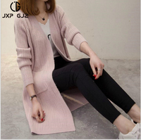 JXP GJZ CG 2017 Autumn Winter Women Sweaters And Cardigans New Fashion Long Sleeve Loose Knitted