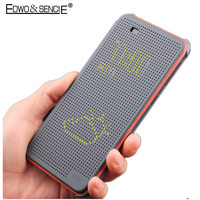 EDWO Auto Smart Dot View TPU Flip Phone Cover Case For HTC One ME E8 M8