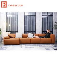 L shape new model designs for drawing room sectional leather sofa set