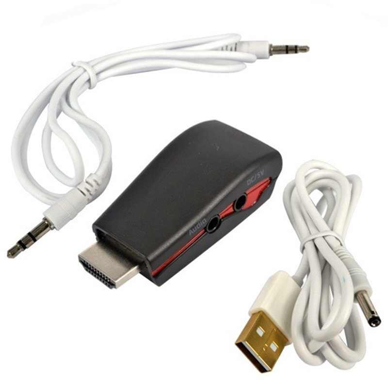 1080 P HDMI męski na żeński adapter VGA złącze konwerter z kablem audio USB kabel zasilający dla Laptop PC TV do konsoli Xbox 360 dla PS4