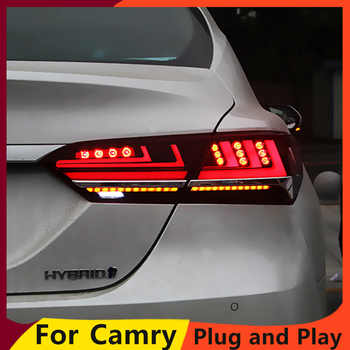 KOWELL Car Styling for Toyota Camry 2018 taillights LED Tail Lamp rear trunk lamp cover drl+dynamic signal+brake+reverse - DISCOUNT ITEM  20% OFF All Category