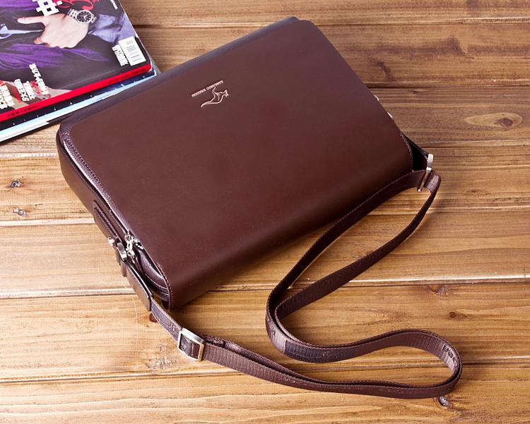New Arrived luxury Brand men's messenger bag Vintage leather shoulder bag Handsome crossbody bag handbags Free Shipping 17