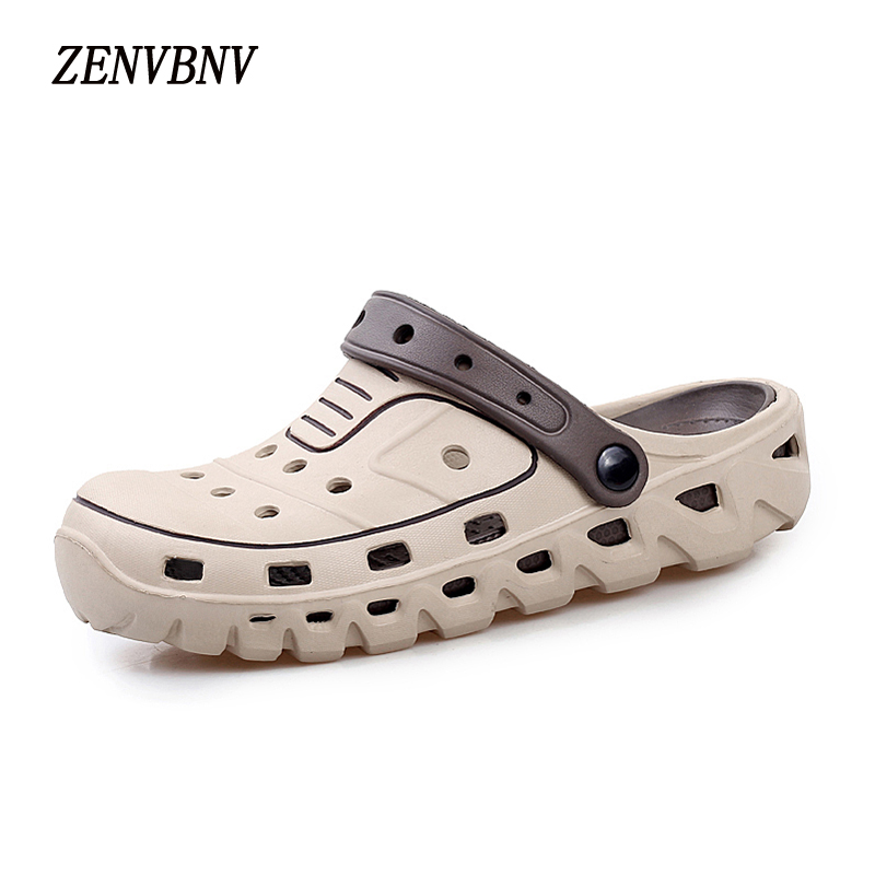 ZENVBNV Slip On Spring Mens Sandals Lightweight Height Increag Male Casual Beach Water Sandals Soft White Men Outdoor Water Shoe