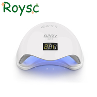 48W Sun5 UV LED Auto Sensor Nail Lamp Dryer Gel Polish Curing Light With Bottom 30s