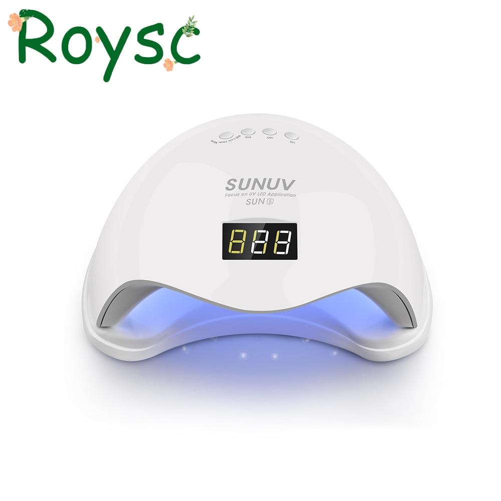 48 Watt Sun5 UV LED Auto Sensor Nagel Lampe Trockner Gel Curing Licht mit Bottom 30 s/60 s Timer LCD display Weiß licht