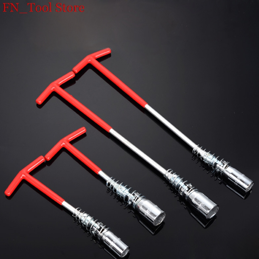 16mm/21mm T type spark plug wrench Socket wrench 360 degree rotate Auto Repair Tool hand tools цены