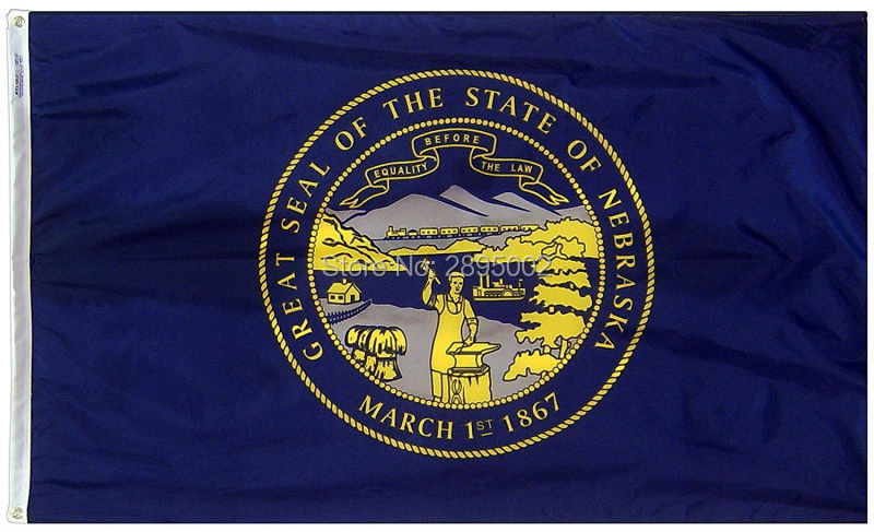 Nebraska State Flag Polyester grommets 3 x 5 Banner metal holes Flag
