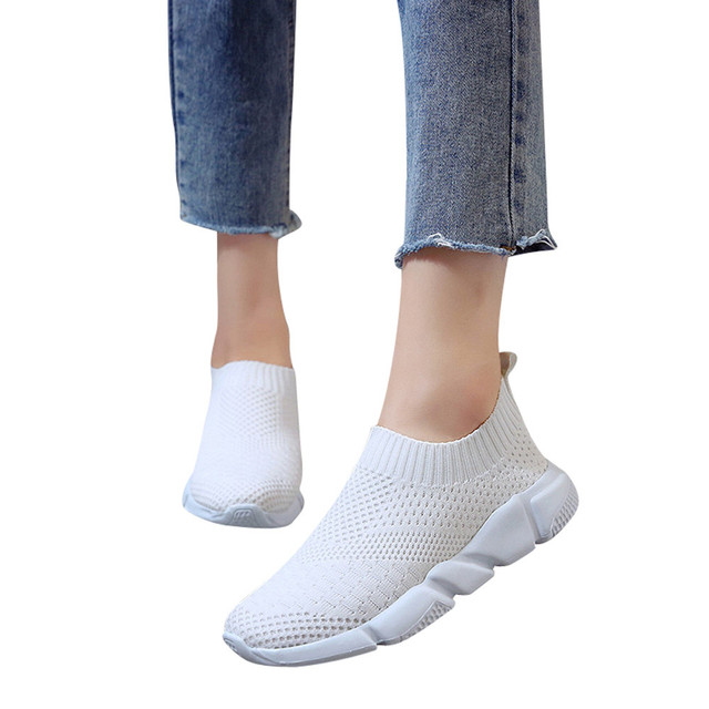 Breathable Outdoor Slip-on Shoes Uncategorised Footwear Women color: Black|Gray|Pink|White
