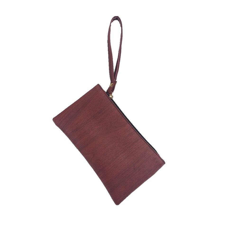 2018 New Fashion Wood Pattern Coin Purse Men Women Wallets Pu Leather Key Slim Bag Zipper Small Clutch Phone Wristlet Handbag