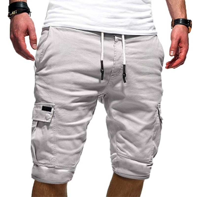 Mens Casual Short Pants Military Cargo Shorts Mens Beach Shorts Loose Work Men's Multi-pocket Sports Fitness Shorts(China)