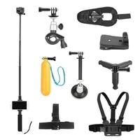 10Pcs Selfie Stick + Mobile Phone Clip + Bicycle Bracket+Car Bracket+Buoyancy Stick + Backpack Clip + Tripod + Wrist Strap + H