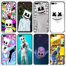 IMIDO POP DJ Marshmello Soft black silicone Coque Shell For iPhone 6s 6plus 6 7plus 7 8 8plus 5 5S SE XR XS max X TPU phone case