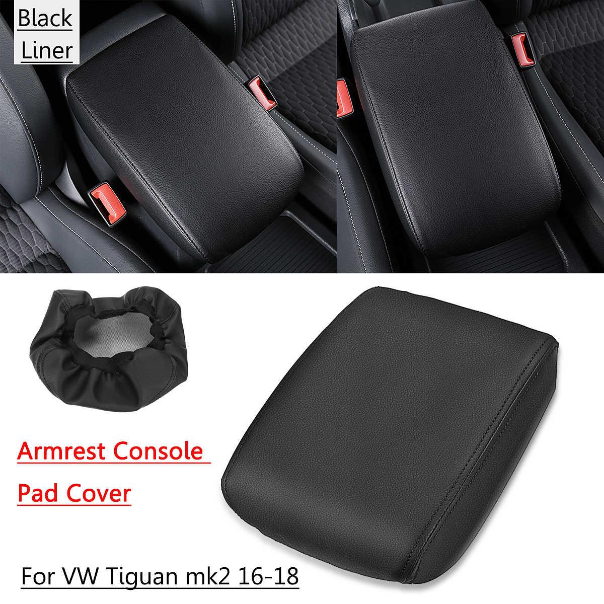 車のセンターコンソールシートアームレストボックスパッド Pu レザーフォルクスワーゲン/VW ティグアン MK2 2016 2017 2018 車インテリアアクセサリー
