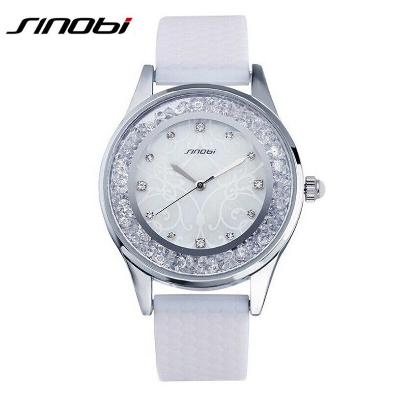 2017 SINOBI Для женщин Часы дамы Часы Лидирующий бренд Роскошные модные Алмазы Кварцевые наручные часы Женева женский часы hodinky