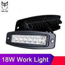 2 Pcs Nuovo 18 W 12 V Luce del Lavoro del LED Bar Della Lampada di Guida Nebbia Fuori Strada del Lavoro del LED Auto Luce per ford Toyota SUV 4WD led travi