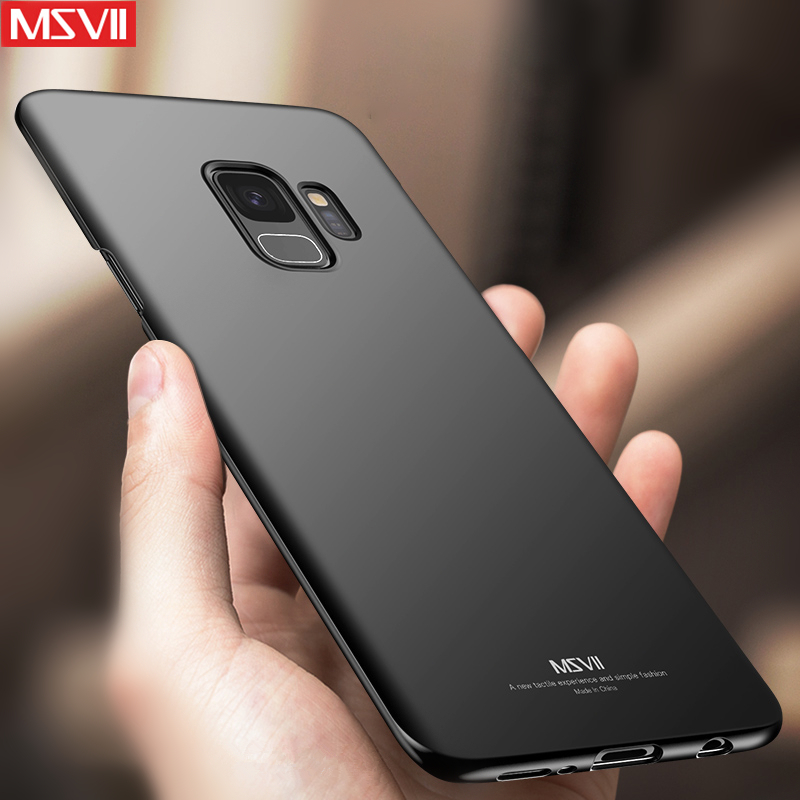 best sneakers 17e35 f019a US $4.99 |MSVII Shell For Samsung Galaxy S9 Plus Case S9 Cases Ultra thin  Slim Fashion Hard Plastic Simple PC Back Cover for Samsung S9-in Fitted ...
