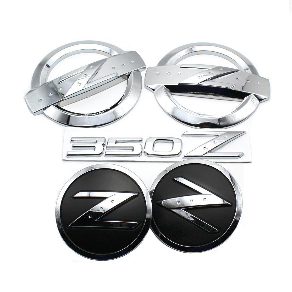 1 set(5x) 3D Silver 350 Z Symbol Car Auto Front Rear Side Body Emblem Stickers for NISSAN 350Z Fairlady Z Z33