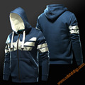 Wishining 2017 capitán américa superhéroe sudaderas moda hoodies mens boys clothing 3xl 4xl azul sudadera con capucha zip up super hero