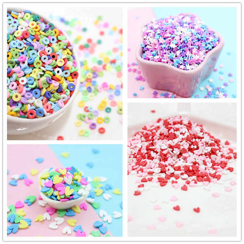 100g/bag Slime Clay Sprinkles Filler DIY Supplies Candy Fake Cake Dessert Mud Decoration Toys Accessories