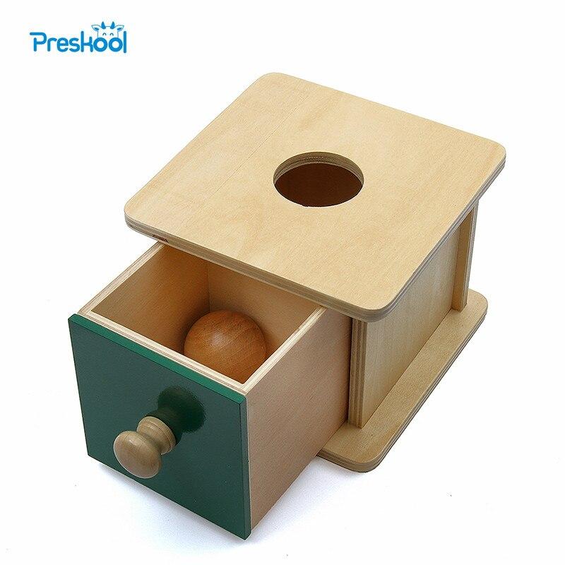 Монтессори дети детские игрушки шарик соответствующий флажок обучения Развивающие Дошкольное обучение Brinquedos juguets ...