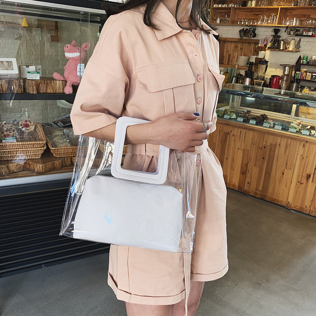 Transparent Wild Cute Messenger Shoulder Handbag