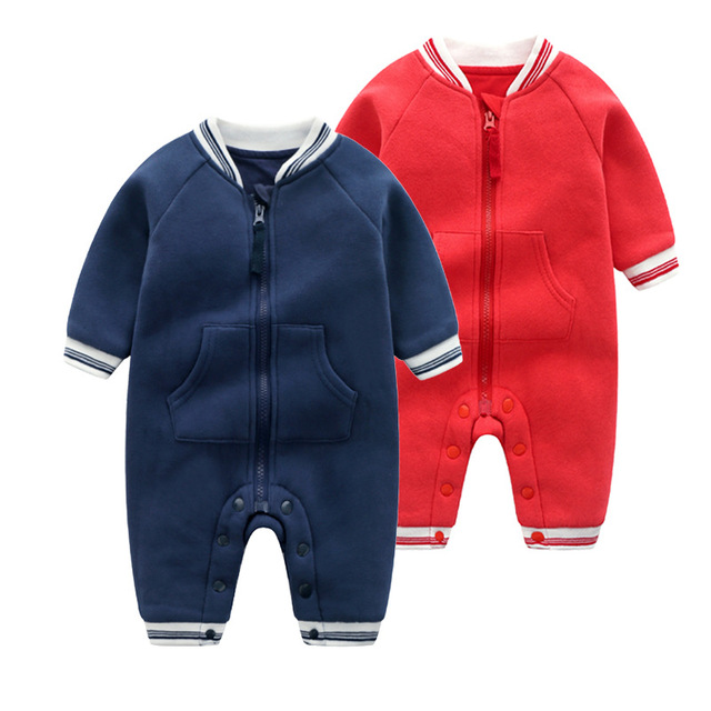 448a81448 Baby Boys Fall Winter Romper Infant Boys Jumpsuits outfits Navy