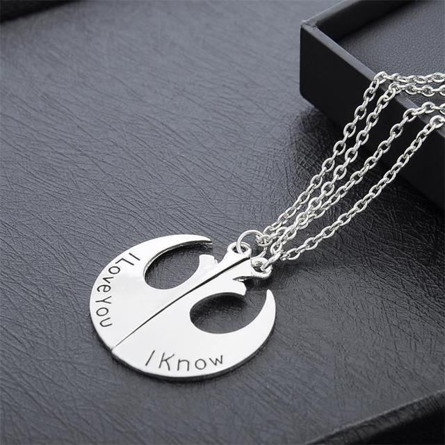 Star Wars Couple Necklace – I love you