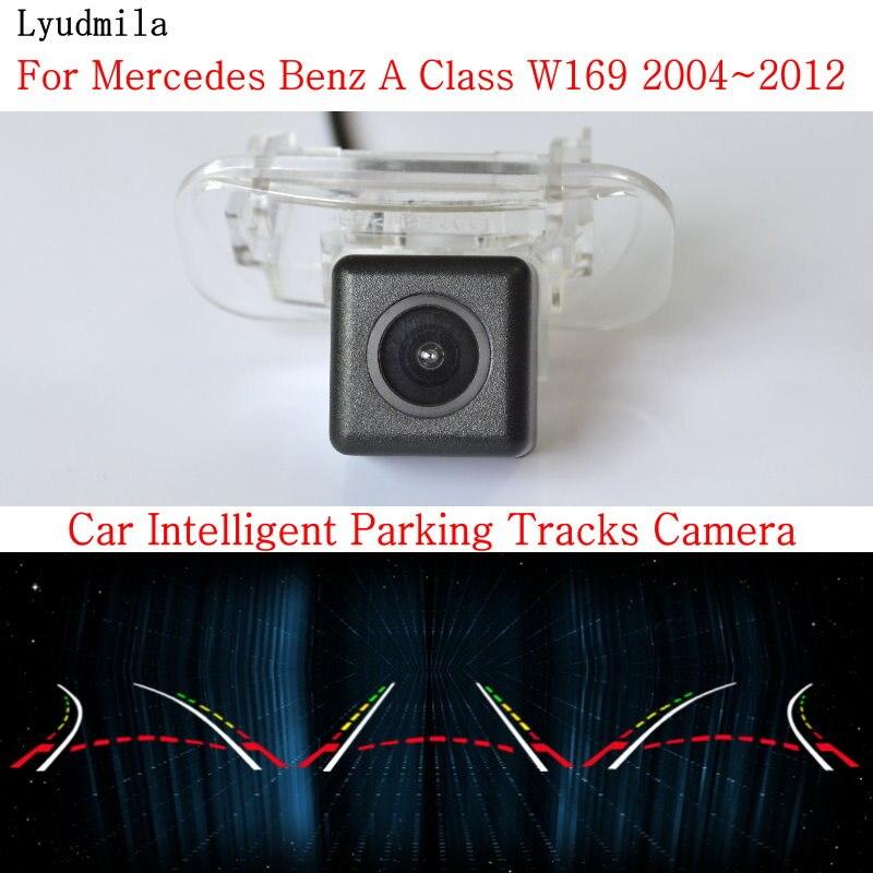 Lyudmila Car Intelligent Parking Tracks Camera FOR Mercedes Benz A Class W169 A160 A180 A200 A150 A170 Car Rear View Camera smart tracks chip camera for mercedes benz b class w246 2012 2015hd ccd intelligent dynamic parking car rear view camera