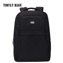 Tinyat schultaschen für männer 15 zoll laptop männer tasche schwarz rucksack für teenager-student funktionale rucksack mochila escolar t805a