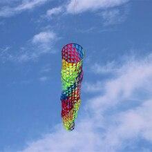 Высокое качество, 5 м, яркие ветроноски, воздушные змеи, так красиво, Рипстоп, нейлон, летающий змей из ткани, парашют, кайтсерфинг, воздушные змеи Wei