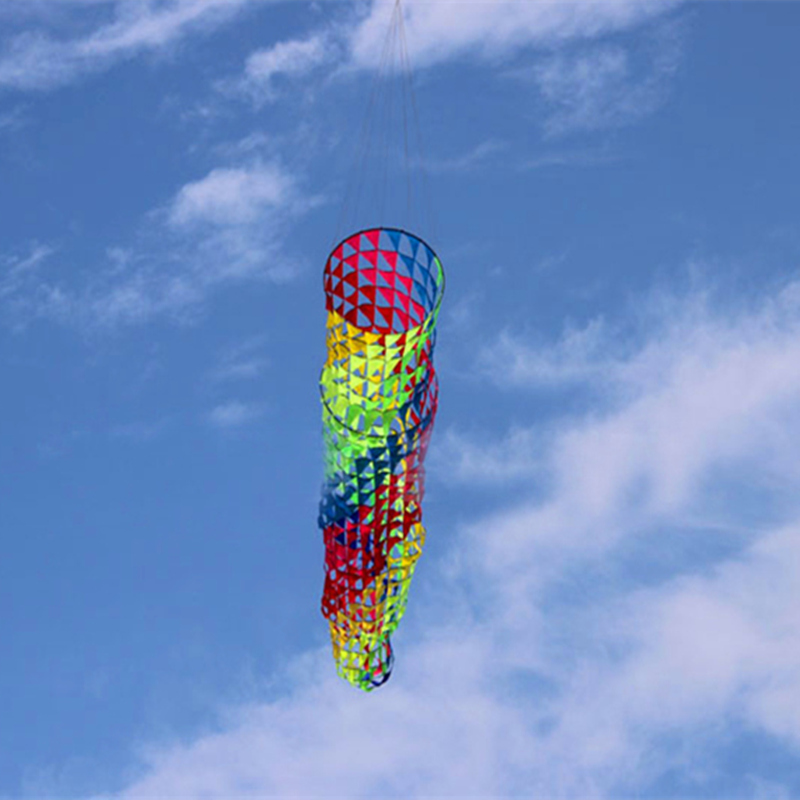 Free shipping high quality 5m colorful windsocks kites so beautiful ripstop nylon fabric kite parachute kitesurfing wei kites