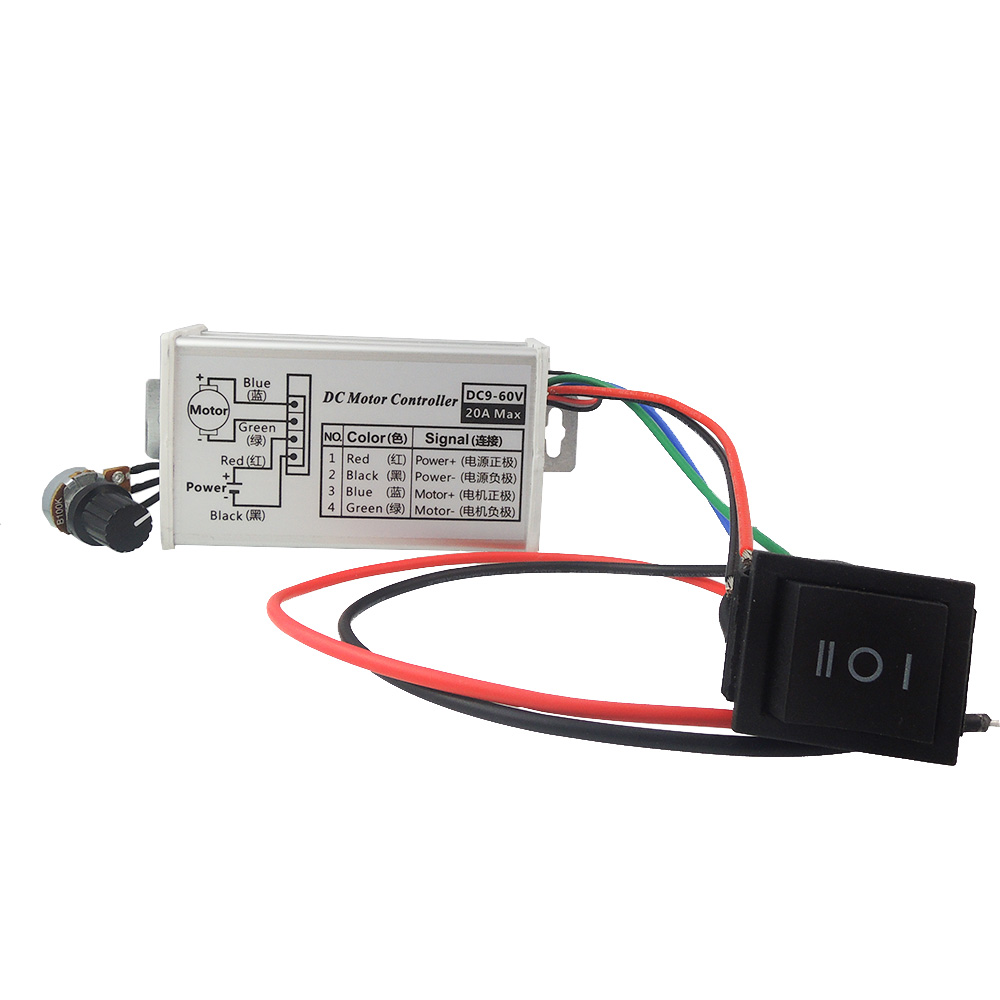 12v 24v 36v 48v Dc 20a Motor Speed Controller Pulse Width Control Of Using Modulation In This Pwm Reserve With Metal Shell W Switch Cvt From