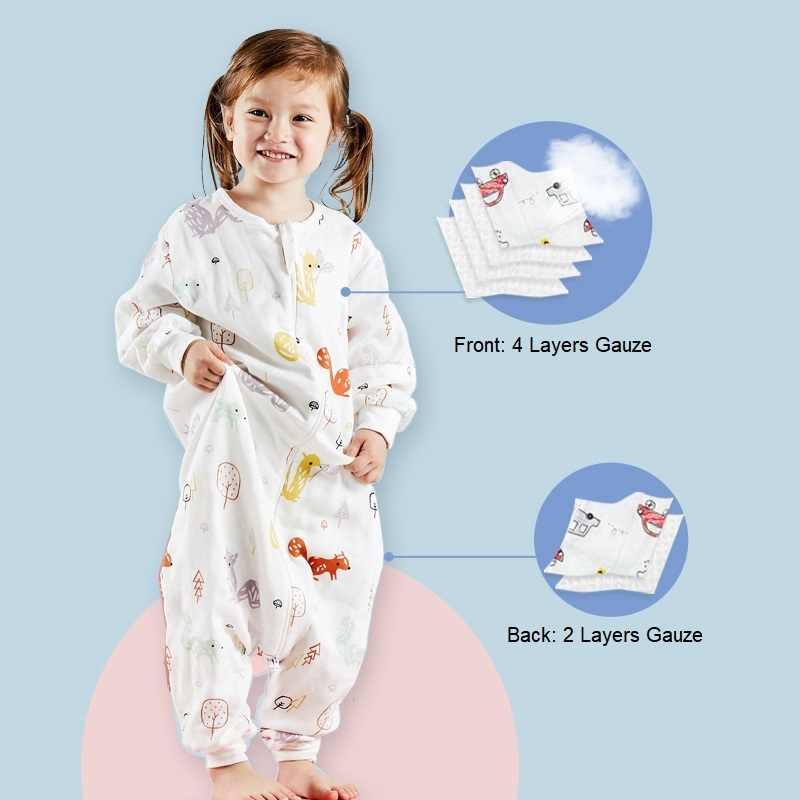 Sac de couchage bébé mousseline coton Infantil été dessin animé pour enfant en bas âge sac de sommeil enfants Slaapzak lit doux enfants pyjamas combinaison
