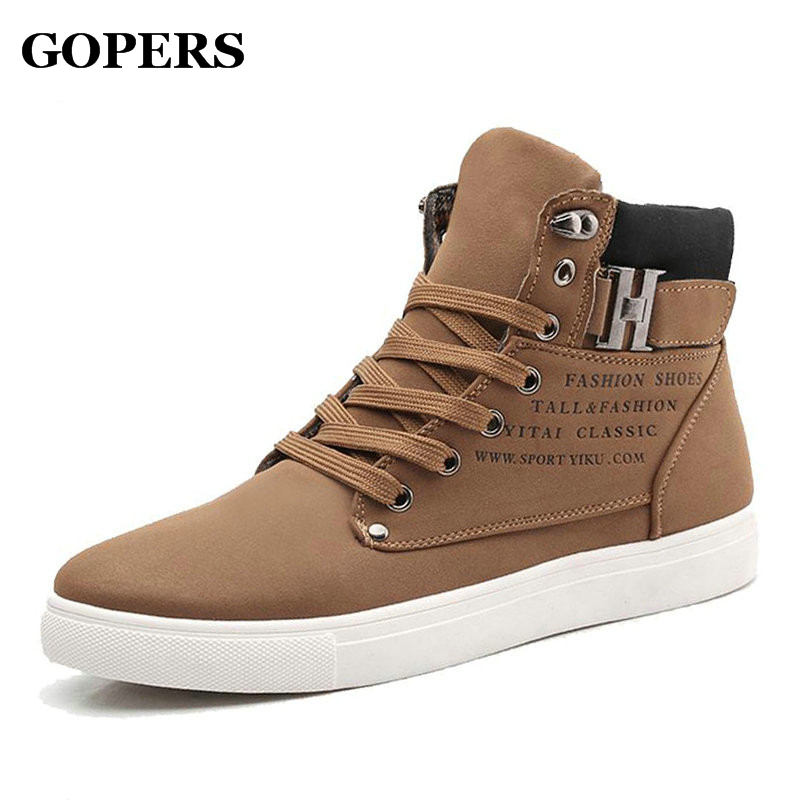 2016 Brand Outdoor Shoes Fashion Breathable High Top Canvas Shoes spring autumn Men walking shoes For Men casual shoes boots hot sale 2016 top quality brand shoes for men fashion casual shoes teenagers flat walking shoes high top canvas shoes zatapos
