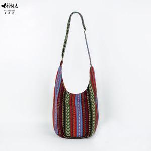 Image 1 - Bolso con correa ajustable para mujer y niña, bandoleras cruzadas de hombro Vintage, bolso bohemio Hippie tailandés, bolsos estilo Hipster